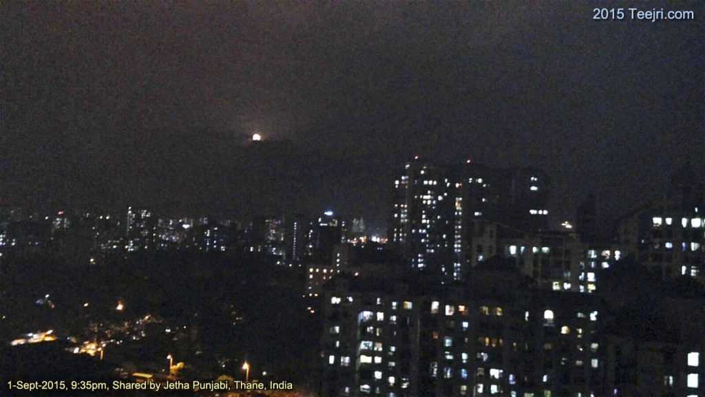 Teejri moon from thane, India 2015